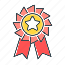 rank badge, badge, star, rank, reward, medal