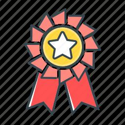 badge, medal, rank, rank badge, reward, star icon