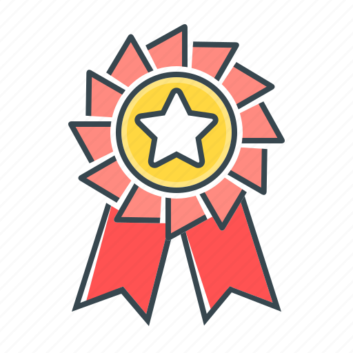 badge, medal, rank, rank badge, reward, star icon