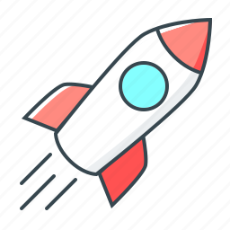 campaign, launch, line, mission, rocket, spaceship, startup icon