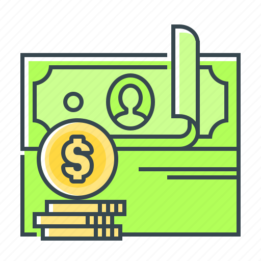 cash, currency, dollar, income, money, profit, revenues icon