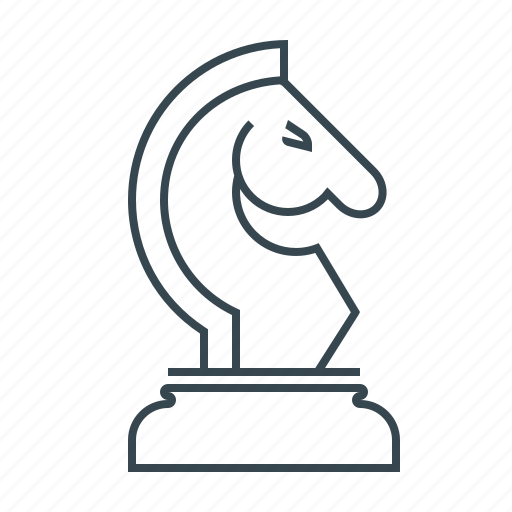 chess, figure, game, horse, strategy, tactics icon