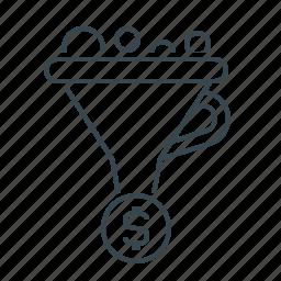 conversion, funnel, gate, optimization, seo icon