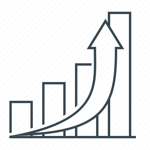 analysis, chart, graph, growth, line icon