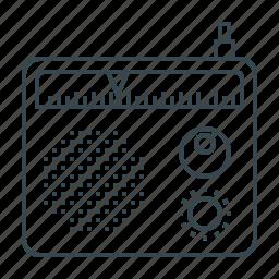 multimedia, music, radio, radio advertising, speaker, volume icon