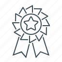badge, rank, rank badge, medal, prize, star