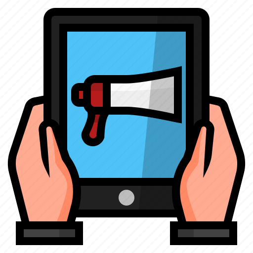 advertising, business, mobile advertisement, mobile business, mobile marketing icon