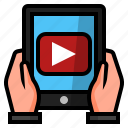 business, online videos, video advertising, video app, video marketing, youtube, youtube marketing icon