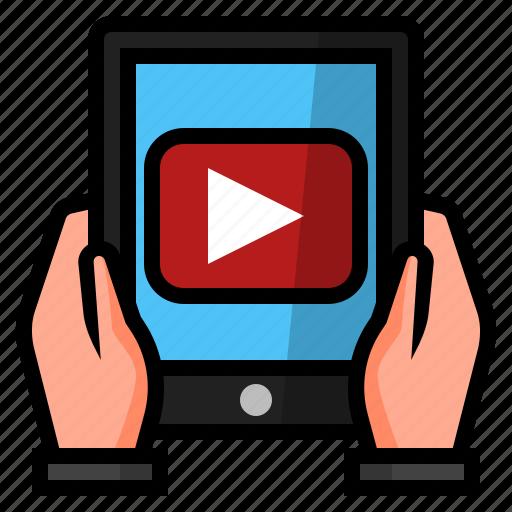 business, online videos, video advertising, video app, video marketing, youtube, youtube marketing icon