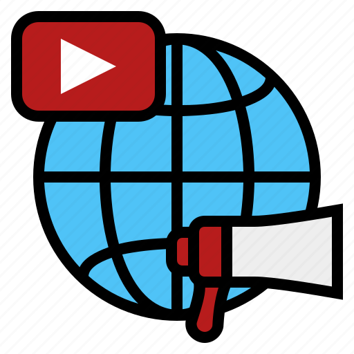 business, online video advertising, online video marketing, video advertising, video marketing, youtube advertising, youtube marketing icon