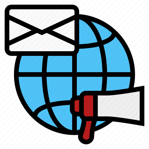 advertising, email advertising, email marketing, online advertising, online mail marketing icon
