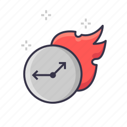 bosstup, clock, fire, sppedup, startup, time icon