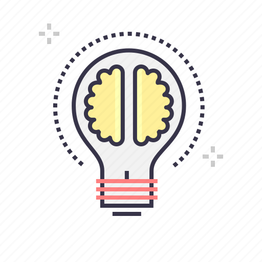 bulb, content, idea, knowledge, marketing icon
