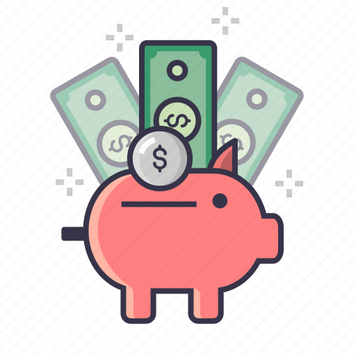 bank, coin, currency, finance, managment, money, piggy icon