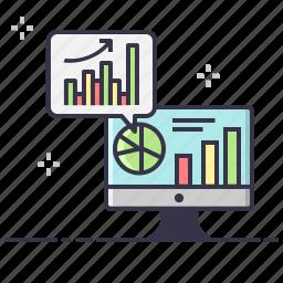 analysis, charts, graph, growth, increase, statictics icon