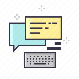 chat, communication, connection, keyboard, keys, message, text icon