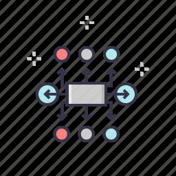 communication, connect, management, nodes, planning, prepare, schedule icon