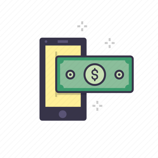 currency, dollars, management, marketing, mobile, money, online icon