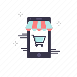 cart, ecommerce, marketing, mobile, online, shooping, trolly icon