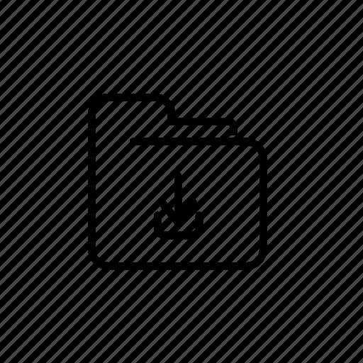 .svg, file, receive icon