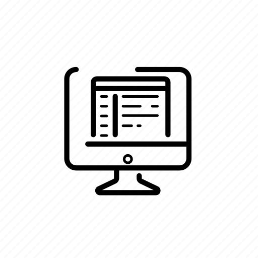 .svg, computer, letter, template icon