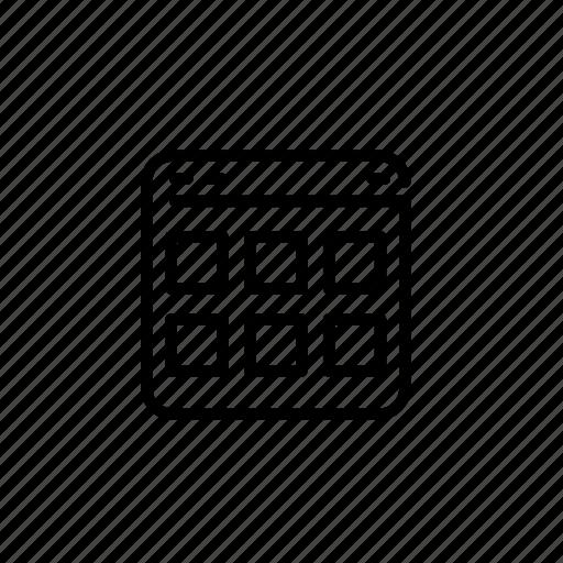 .svg, creative, grid, template icon