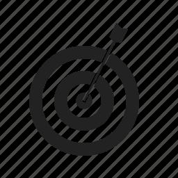 aim, arrow, crosshair, goal, line, target icon