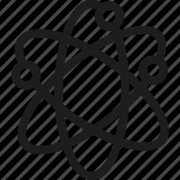 atom, electron, neutron, proton icon