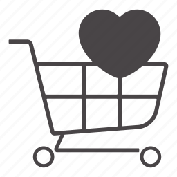 bussiness, cart, shopping cart, shopping with love icon