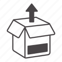content, delivery, objects, storage icon