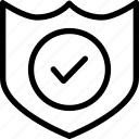 approved, banking, insurance, protection, shield icon