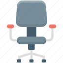 chair, furniture, mesh chair, office chair, swivel chair icon
