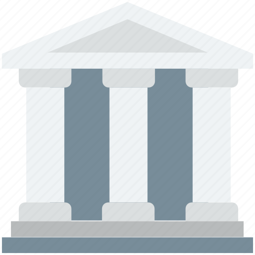 bank, building, court, institute, school building icon