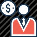 accountant, avatar, businessman, financier, investor icon