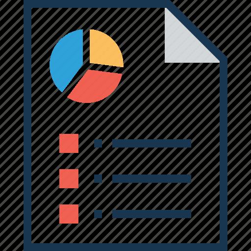 business report, financial report, graph report, report, statistics icon