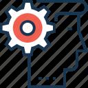 brainstorming, cog, idea, idea develop, personal solution icon