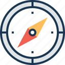 compass, directional tool, gps, navigation, navigational compass icon
