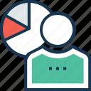 employee data, employee graph, employee performance, graph, performance graph icon
