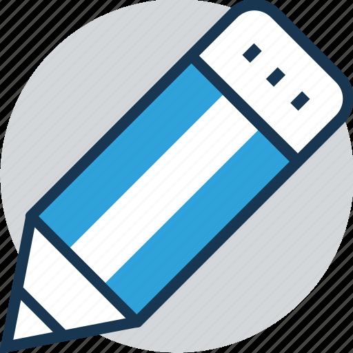draw, edit, lead pencil, pencil, stationery icon