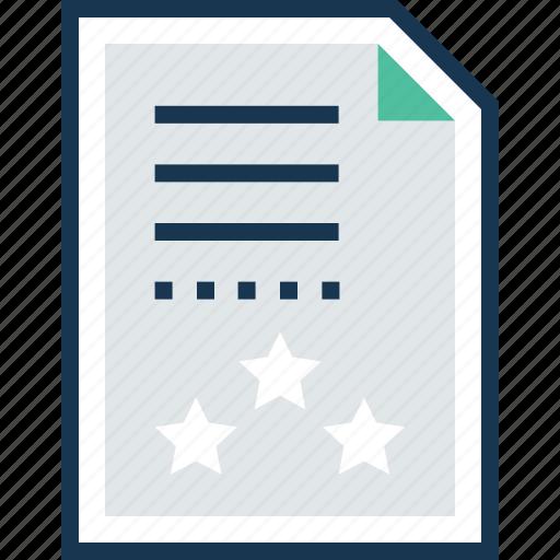 page quality, quality, rank sheet, sheet, text sheet icon