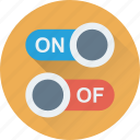 off button, on button, on off, power button, toggle buttons icon