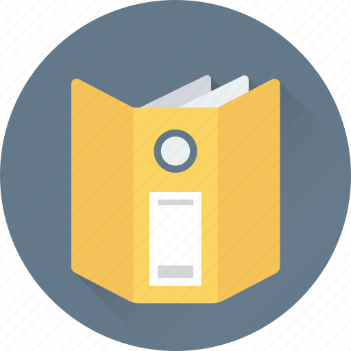 archives, file, file folders, office documents, open file icon