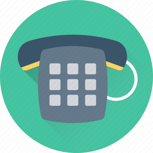 call us, contact us, dial, phone, retro phone icon