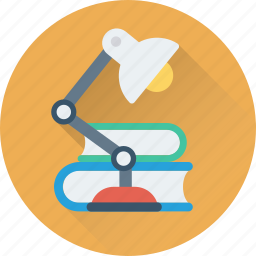 book, desk lamp, lamp, learning, study icon