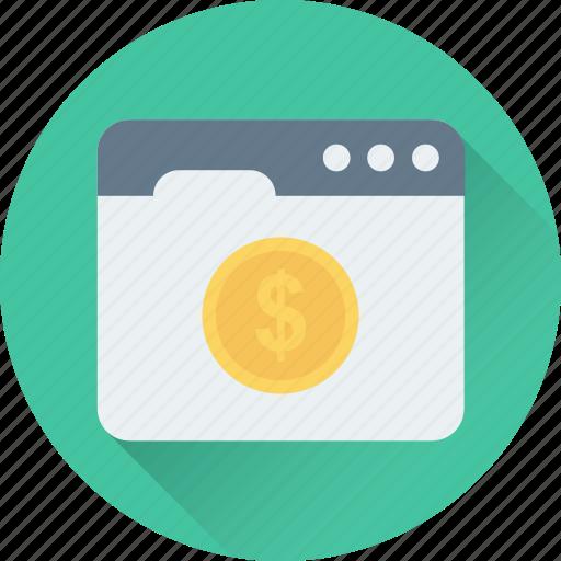 dollar, earning, lcd, online business, online earning, web icon