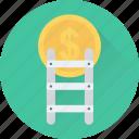 dollar, finance, income, ladder, profit
