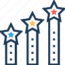 achievement, career advancement, growth, progress, ranking icon