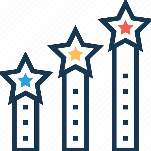 achievement, career advancement, growth, progress, ranking icon