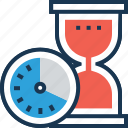 timing, time frame, hourglass, egg timer, processing time icon