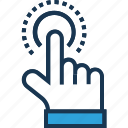 finger touch, hand gesture, hand touch, pointing finger, sensor data icon